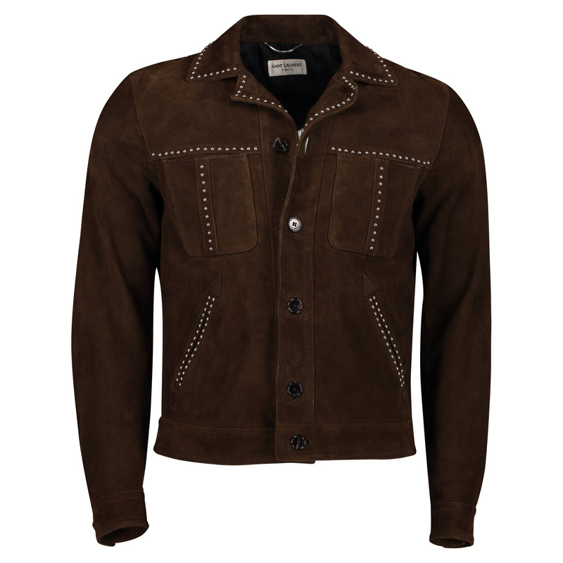 Chamarra Stud Leather Bomber