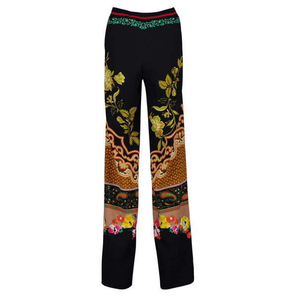 ETRO BLUE PRINTED PANTS