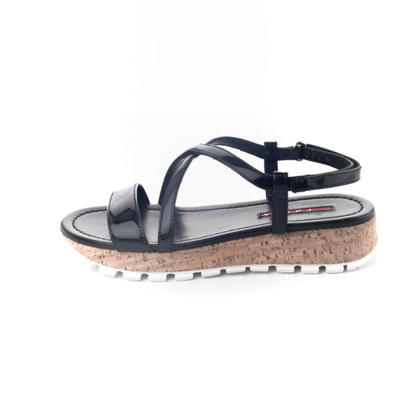 SANDALIAS PATENT LEATHER BLACK
