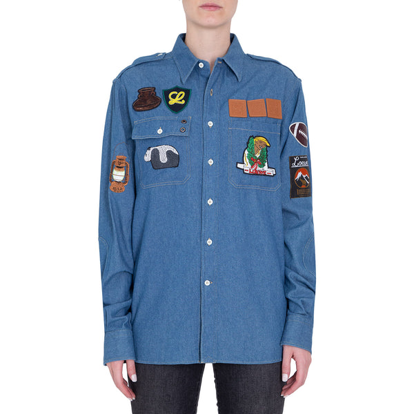 CAMISA PATCHES BLUE