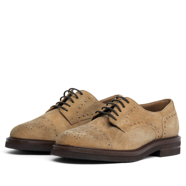 BROGUE SUEDE BROWN