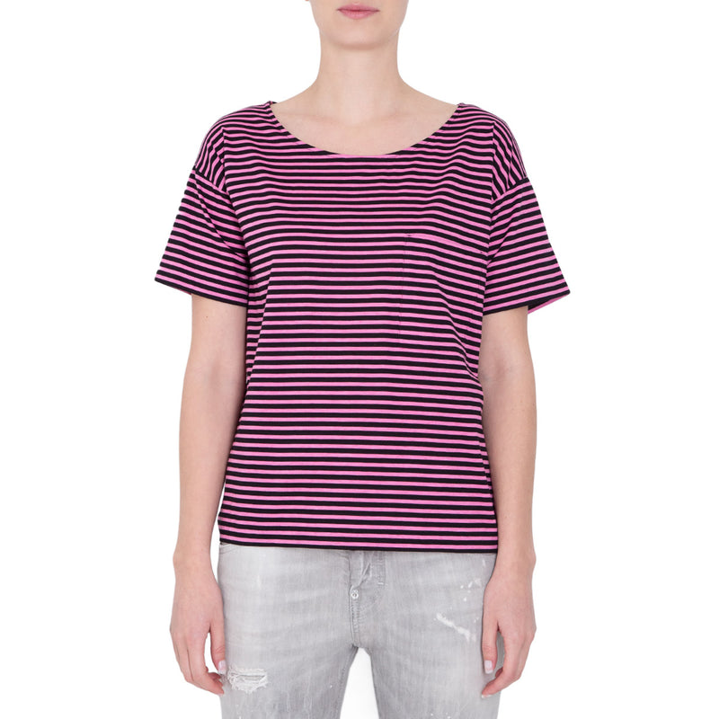BLUSA STRIPES PINK AND BLACK