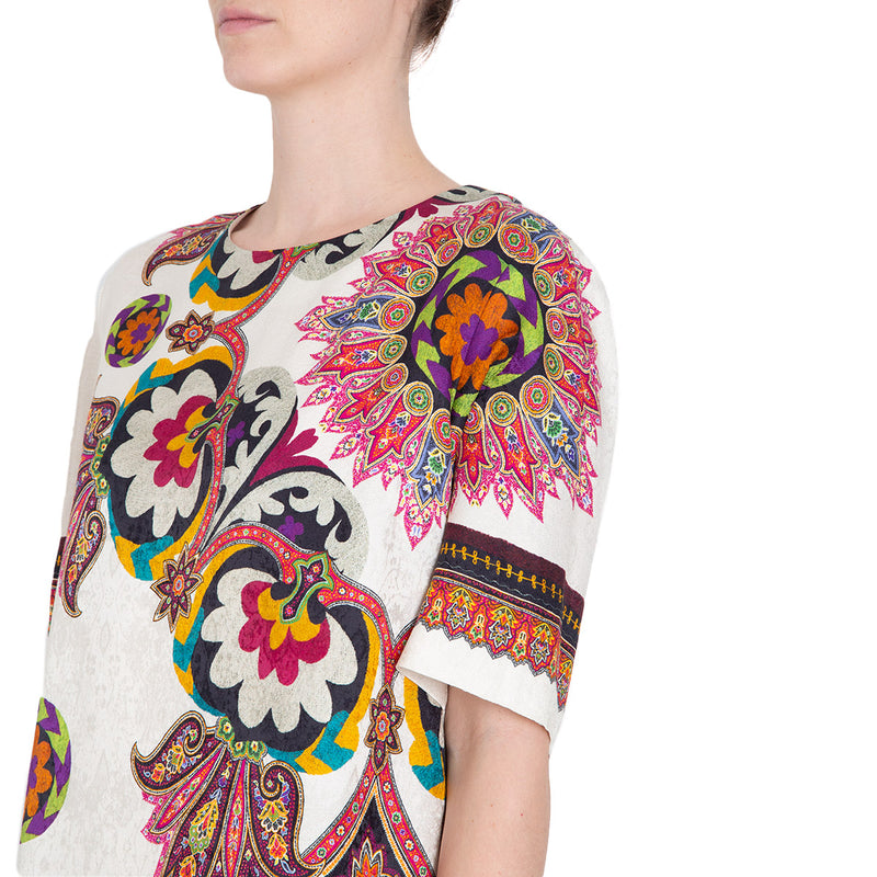 VESTIDO TRAPEZE MULTICOLORED