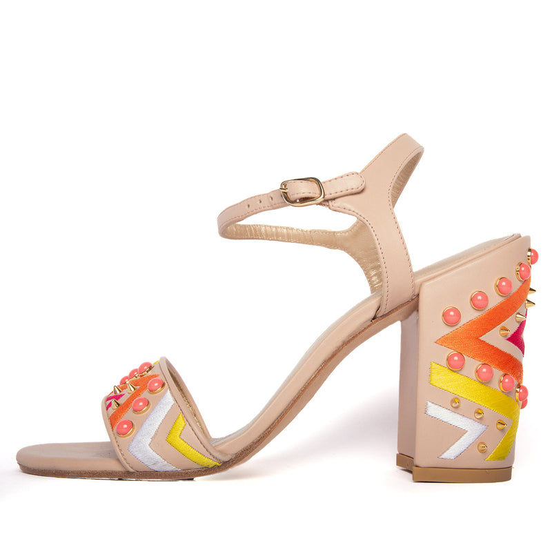 SANDALIAS EMBROIDERED MULTICOLORED