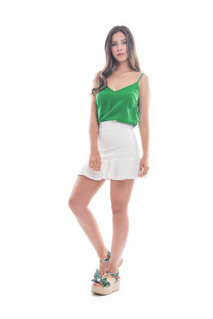 Falda Short Olas Crudo