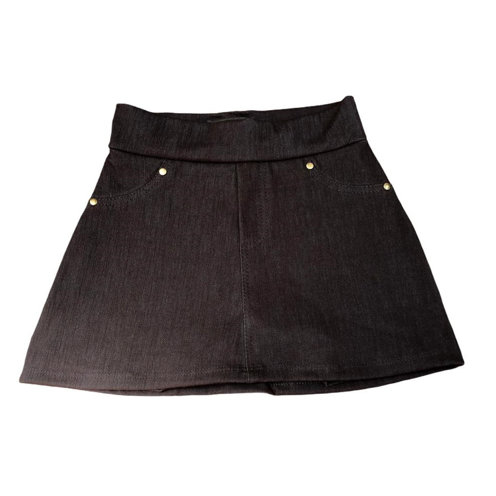Falda Short Denim Negro