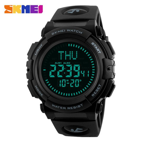 Compass Watches SKMEI Outdoor Sports Hiking Men Watch Digital LED Electronic Watch Man Sports Watches Chronograph Men Clock 2018