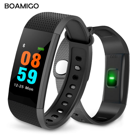 Smart Watch BOAMIGO Brand Bracelet Wristband TFT Touch Color Screen Message Reminder Pedometer Calorie Bluetooth For IOS Android