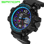 2018 New Digital-watch Sanda Sports Men Watches Outdoor Digital Watch Clock Military Army Climbing Hiking Hours Montre Femme