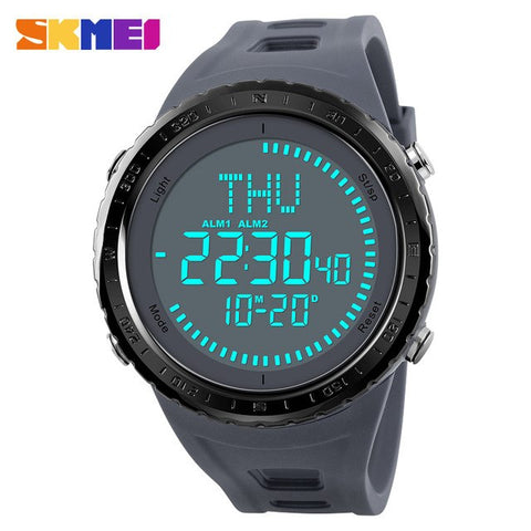 SKMEI Compass Sports Watches Men Waterproof Wristwatches Hiking Men Watch Digital LED Electronic Watch Relogio Masculino 2018