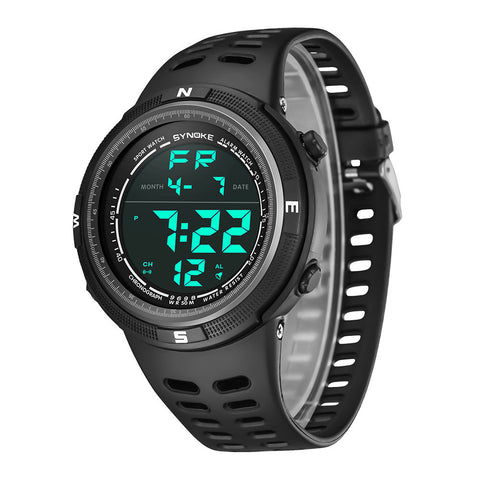 SYNOKE Multi-Function 50M Waterproof Watch LED Digital Double Action Watch