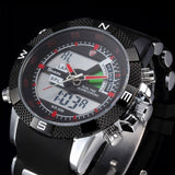 Porbeagle SHARK Sport Watch Black Military Rubber Band Hiking Digital LCD Electronic Watches Date Chronograph Male Clock /SH042