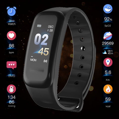Bluetooth Smart Band Blood Pressure Heart Rate Monitor Wristband Waterproof Fitness Bracelet Sleep Tracker Bluetooth Watch