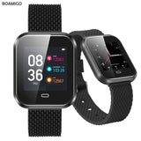 BOAMIGO Smart Watch Sport Smart Wristband Call Message Reminder Calorie Alloy Watch For IOS Android Phone Bluetooth Relogio