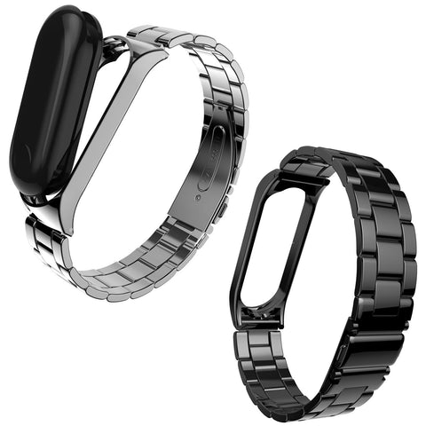 316L Stainless Steel Watch Band Strap Wristbands for Mi Band 3 Miband 3