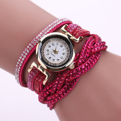 Women's Watch, Decoration Band Quartz Wrist Watch with Push Button Buckle, Gifts for Women