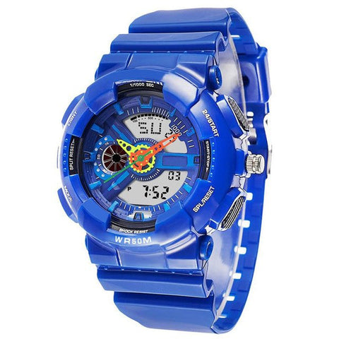 Brand Kid's Sports Watch Multi-Function Waterproof Watch LED Digital Double Action Watch Dive Date Army Wristwatch L40