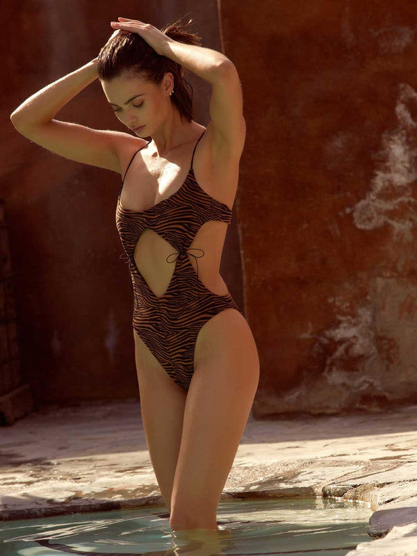 Diamond One Piece Bathing Suit