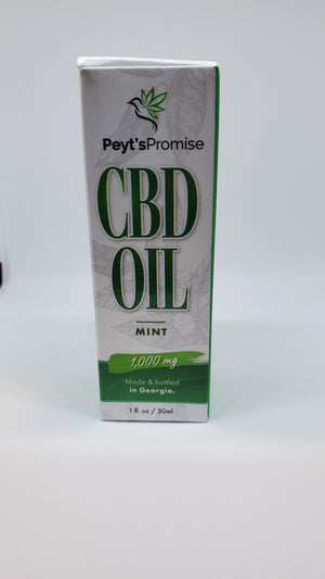 Peyt's Promise Hemp CBD Isolate - 1000mg/30ml - Mint - Peyt's Promise