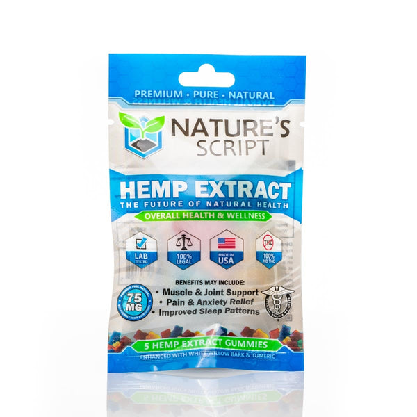 Nature's Script Hemp CBD gummies 5ct, 15mg gummies - Peyt's Promise