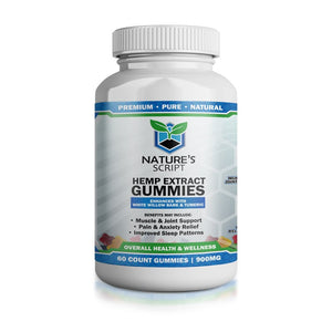 Nature's Script Hemp CBD gummies 70ct, 15mg gummies - Peyt's Promise