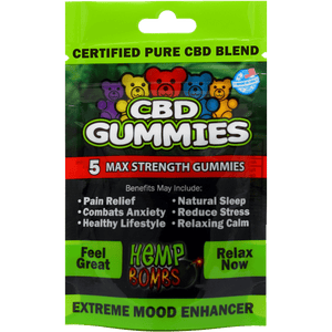 Hemp Bombs CBD Gummies Max Strength, 5 count - Peyt's Promise