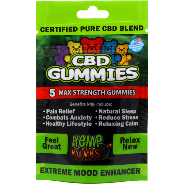 Hemp Bombs CBD Gummies Max Strength, 12 count - Peyt's Promise