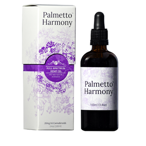 Palmetto Harmony Full Spectrum Hemp CBD oil, 100ml.  2000mg total - Peyt's Promise