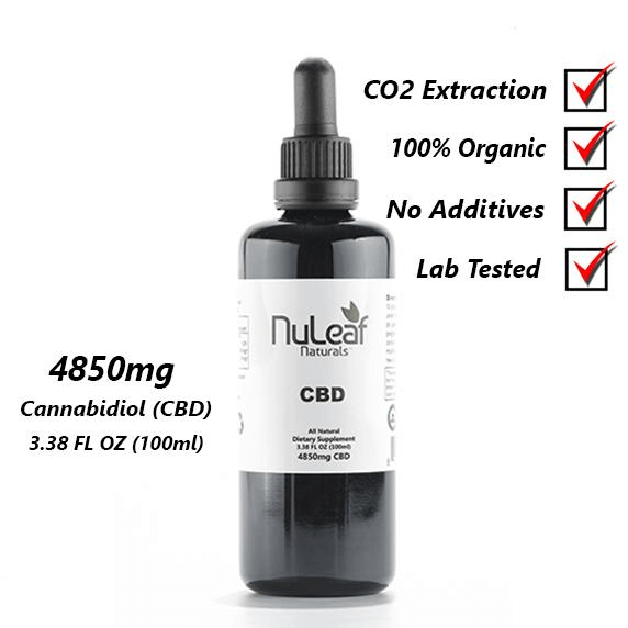 NuLeaf Naturals 4850mg Full Spectrum CBD oil, High Grade - Peyt's Promise