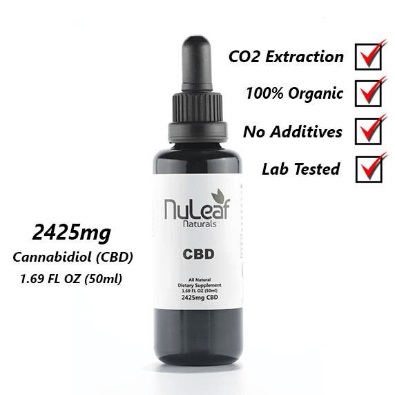 NuLeaf Naturals 2425mg Full Spectrum CBD oil, High Grade - Peyt's Promise