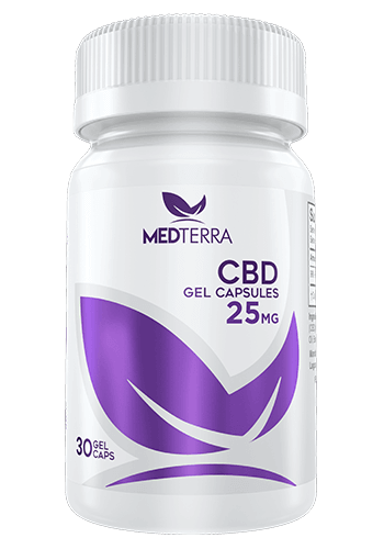 Medterra CBD 25mg GelCaps. count 30 - ISOLATE - Peyt's Promise
