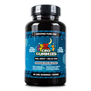 Hemp Bombs CBD sleep gummies with melatonin. 15mg, qty 70 - Peyt's Promise