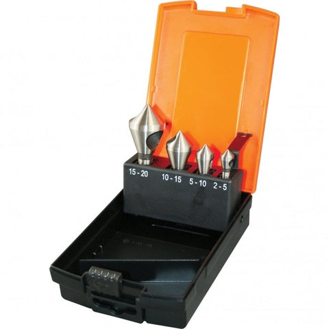 D1051 - HSS Countersink Set - 4 Piece Ø2 - Ø20mm