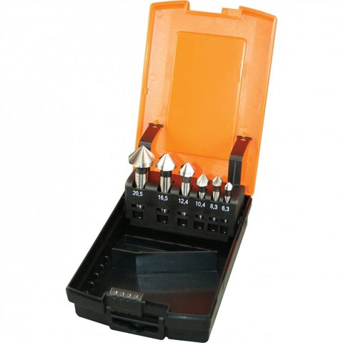 D1061 - HSS Countersink Set 6 Piece Ø1.5 - Ø20.5mm
