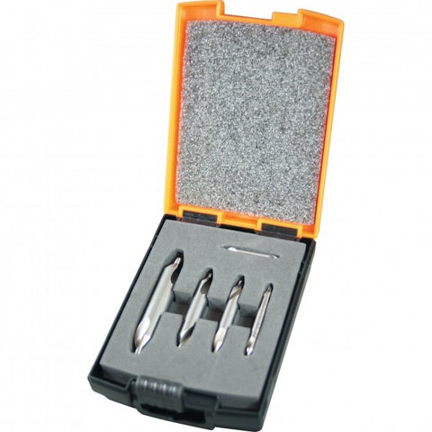 D508 - HSS Industrial Centre Drill Set - 5 Piece No. 1, 2, 3, 4, 5