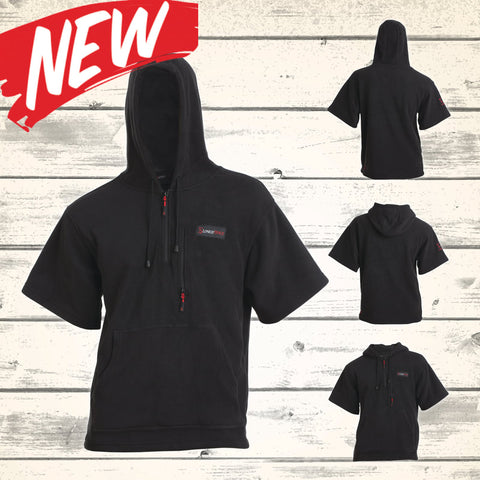 Rogue Hooded Fleece Tee - Black - NEW!