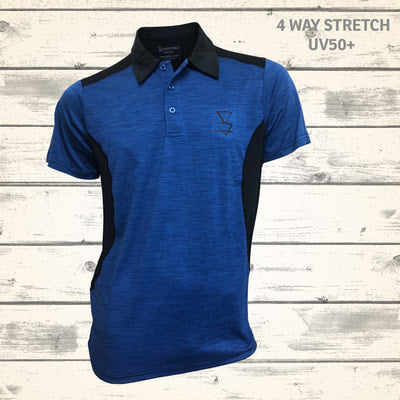 Matai Mens Polo - Blue Stone