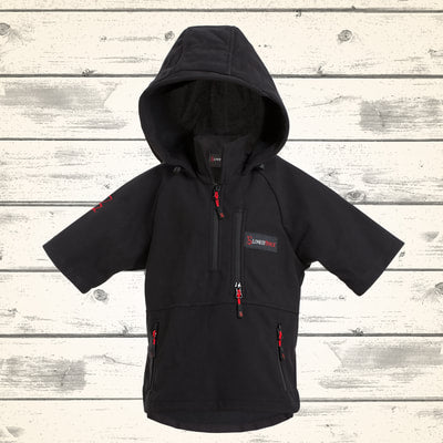 Kids Wilder Hooded Top - Black