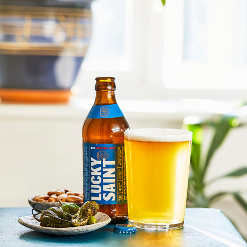 Lucky Saint Superior Unfiltered Lager 0.5% ABV