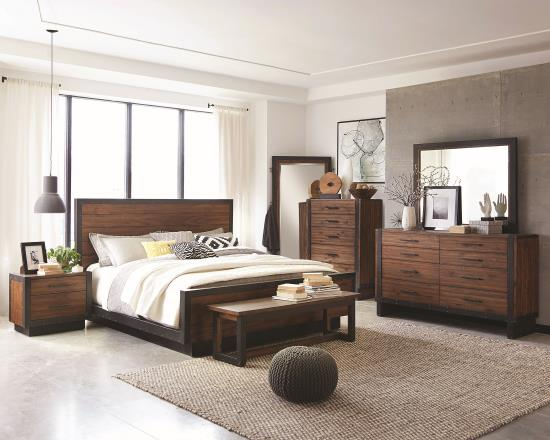 BEDROOM - BEDROOM SETS 205241KW-S4 CA KING 4PC SET (KW.BED,NS,DR,MR)