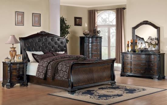 BEDROOM - BEDROOM SETS 202261KW-S5 CA KING 5PC SET (KW.BED,NS,DR,MR,CH)