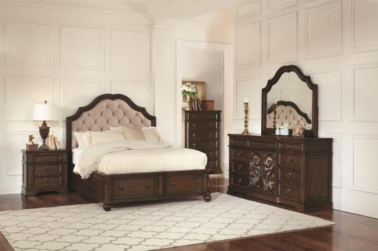 BEDROOM - BEDROOM SETS 205280Q-S5 Q 5PC SET (Q.BED,NS,DR,MR,CH)