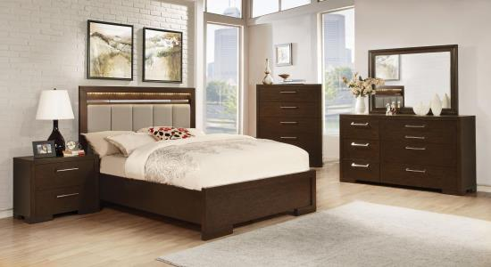 BEDROOM - BEDROOM SETS 204461KE-S5 E KING 5PC SET (KE.BED,NS,DR,MR,CH)