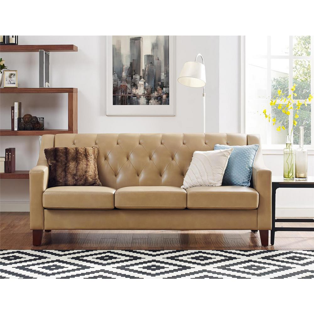 - Clearance Furniture In Houston Taupe Vintage Style Leather Sleeper