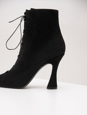 K ANKLE BOOTS LACED SUEDE BLACK