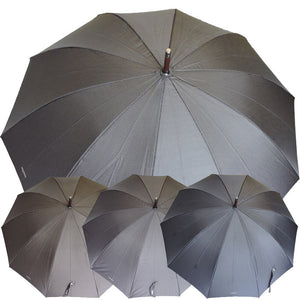 MENS PINSTRIPE WOOD STICK UMBRELLA