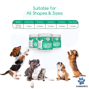 Suitable for all sizes of dogs from under 10lbs to over 90lbs