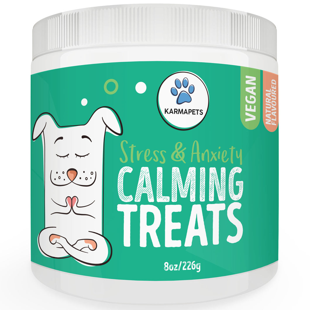 KarmaPets Calming Vegan Treats for Dogs - Hemp Infused for Anxiety Relief