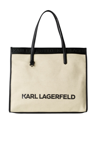 KARL LAGERFELD K/SKUARE CANVAS TOTE ΤΣΑΝΤΑ 211W3020 NATURAL