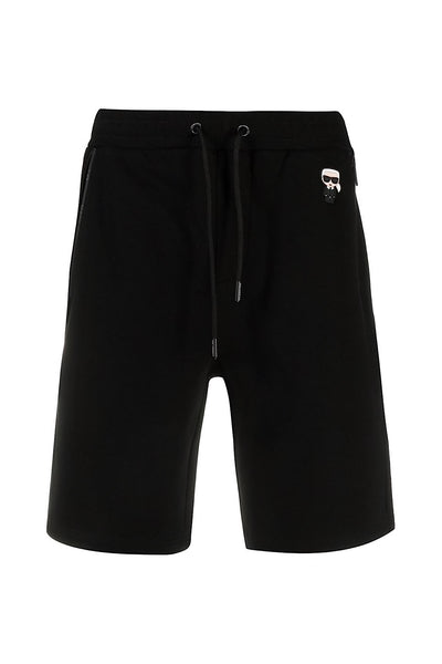 705026-511900 KARL LAGERFELD MAN SWEATSHORTS BLACK μαυρο σορτς